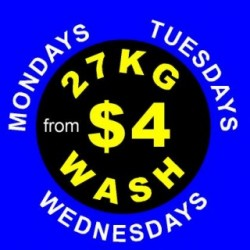 Big 27Kg Wash from $4 is Back